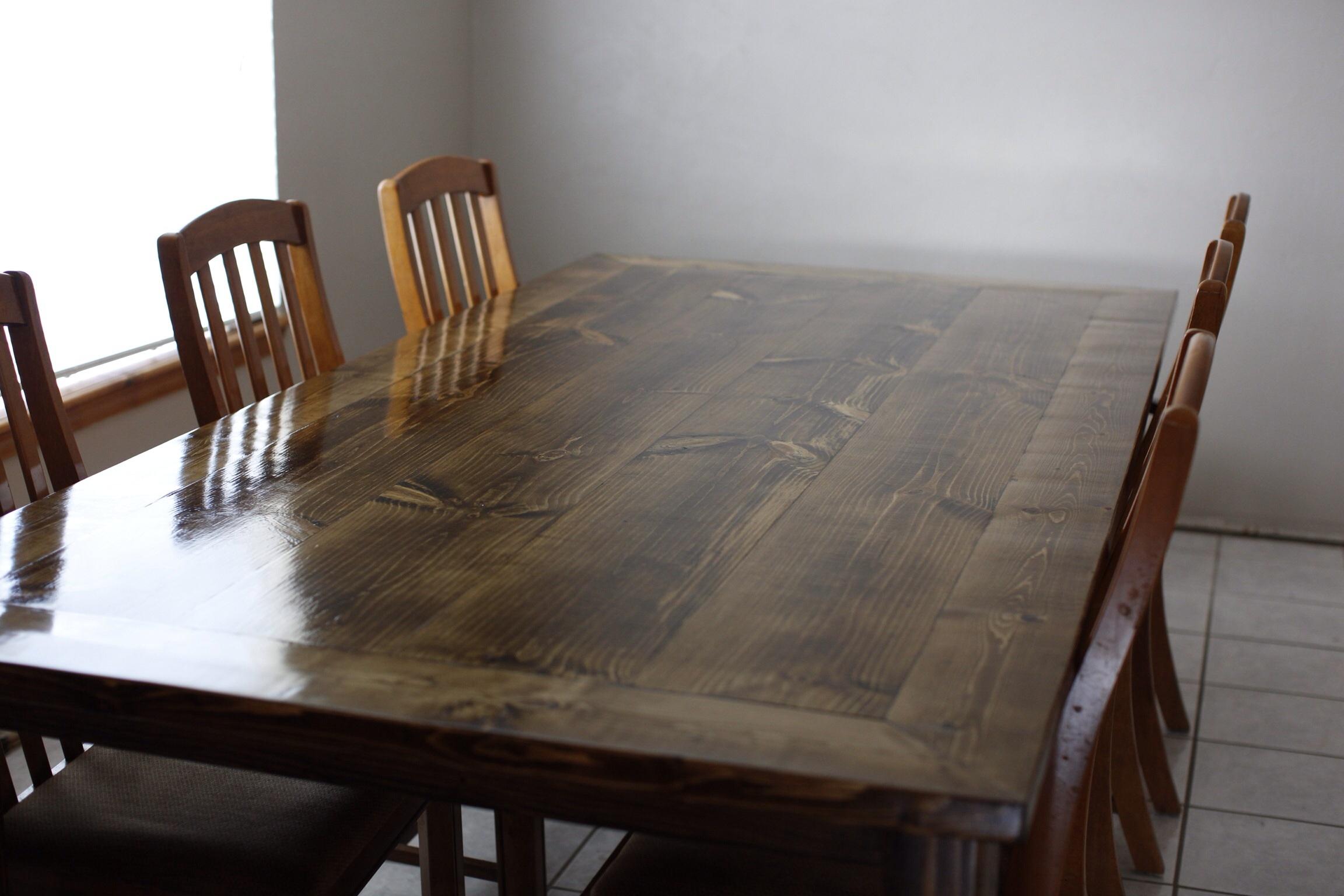 Как сделать обеденный стол из дерева своими руками чертежи