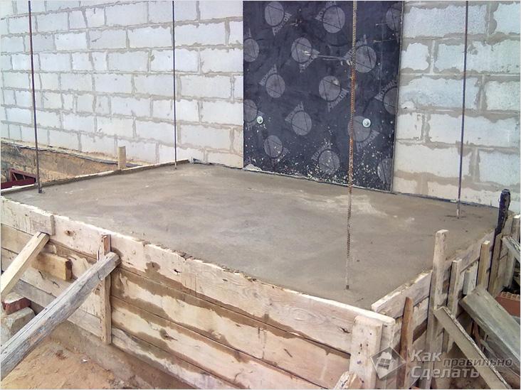 Крыльцо из бетона своими руками