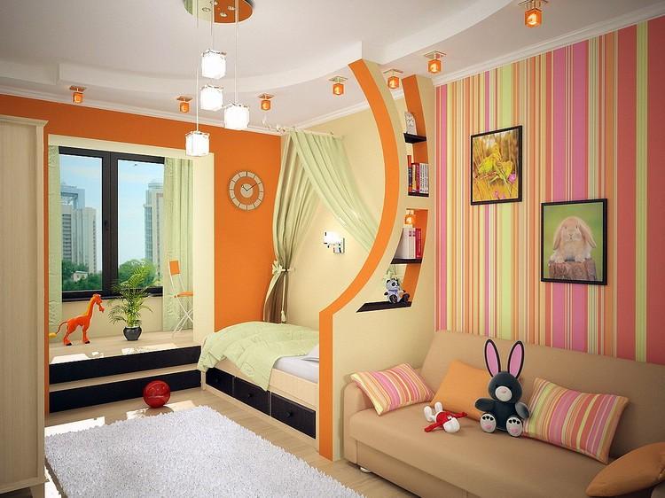 Дизайн обои для детской комнаты для