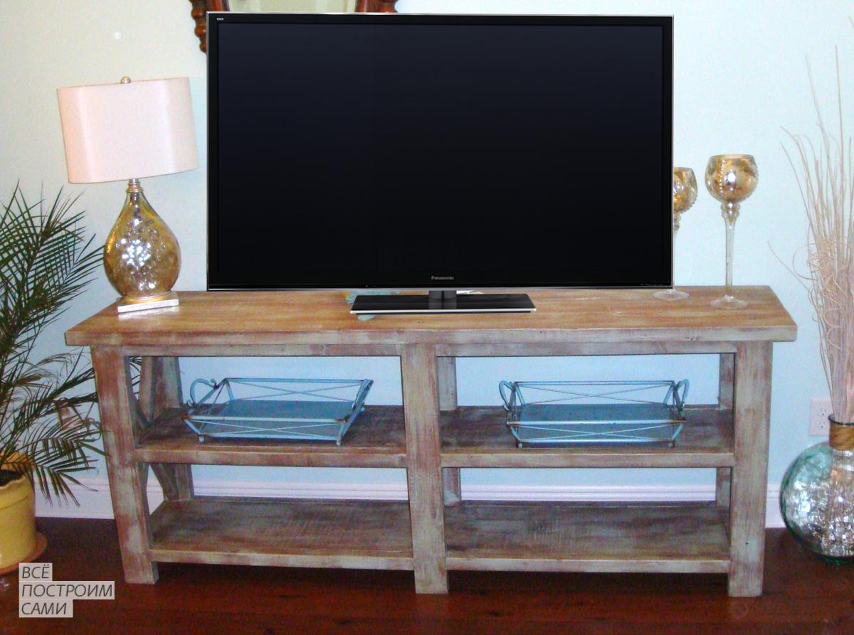 Как сделать тумбочки под телевизор