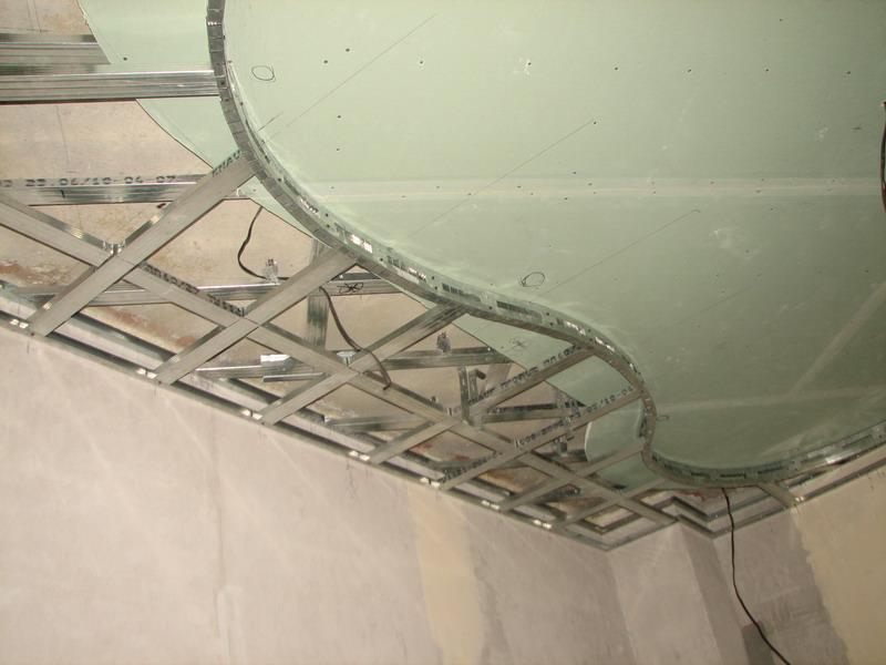 Подвесной потолок из гипсокартона своими руками на кухне