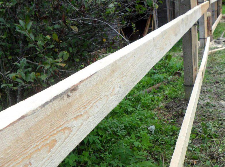 Каркас деревянного забора