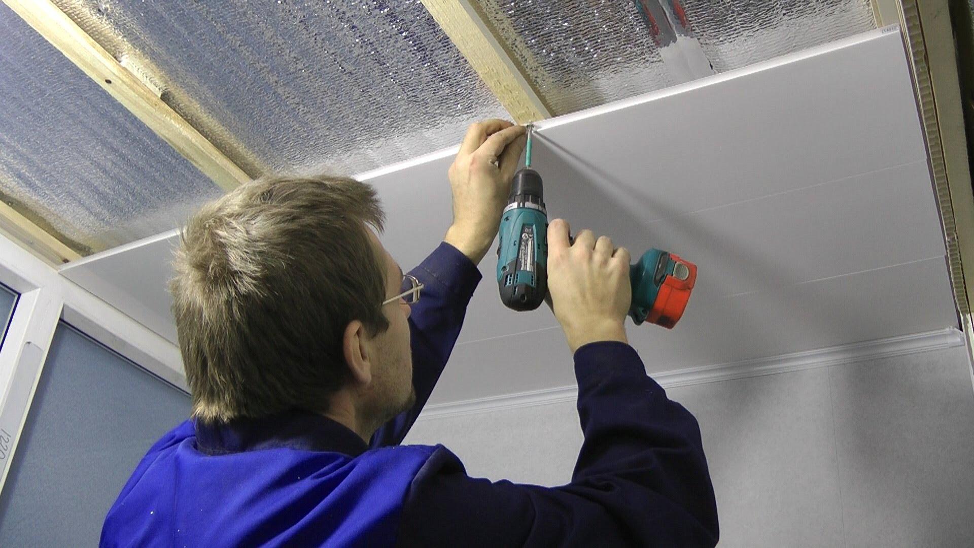 Крепление потолка из пвх панелей своими руками