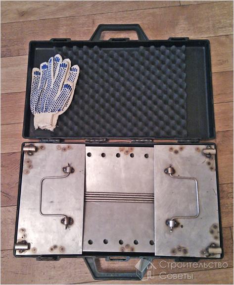 Складной мангал в чемодане своими руками