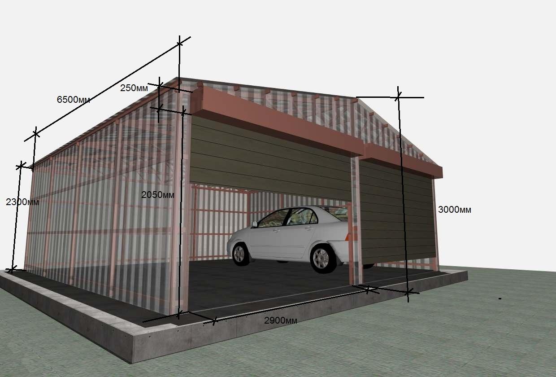 Как быстро и дешево построить гараж своими руками