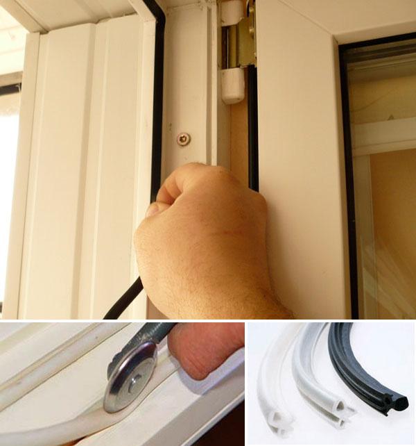 Замена уплотнительных резинок на пластиковых окнах в москве.
