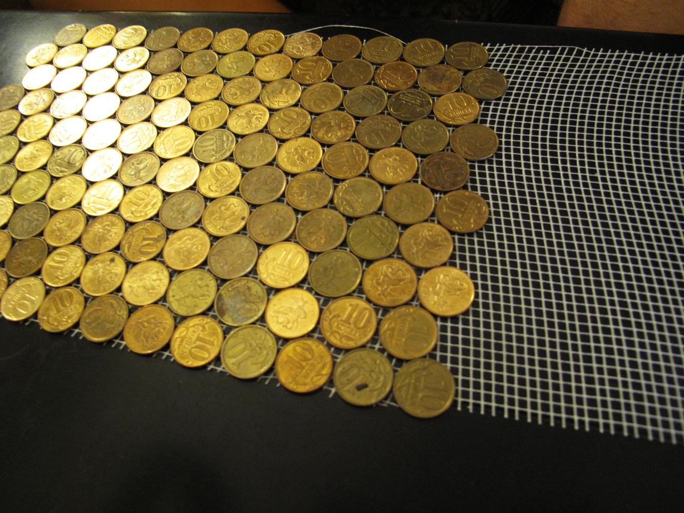 Картинка из монет своими руками 196
