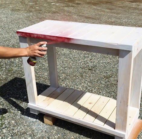 Покраска сервировочного столика