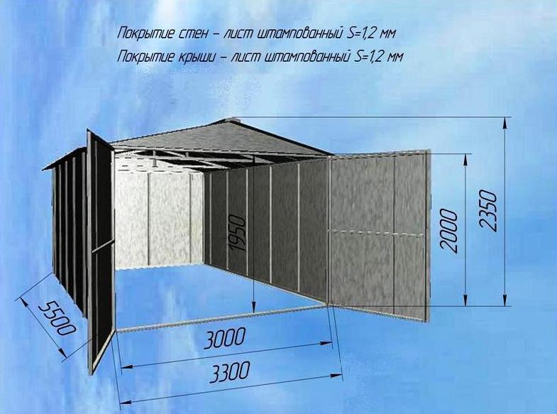 Металлический гараж своими руками какой из чего и как строить