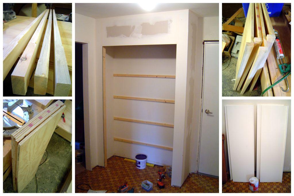 Как построить своими руками встроенный шкаф 471