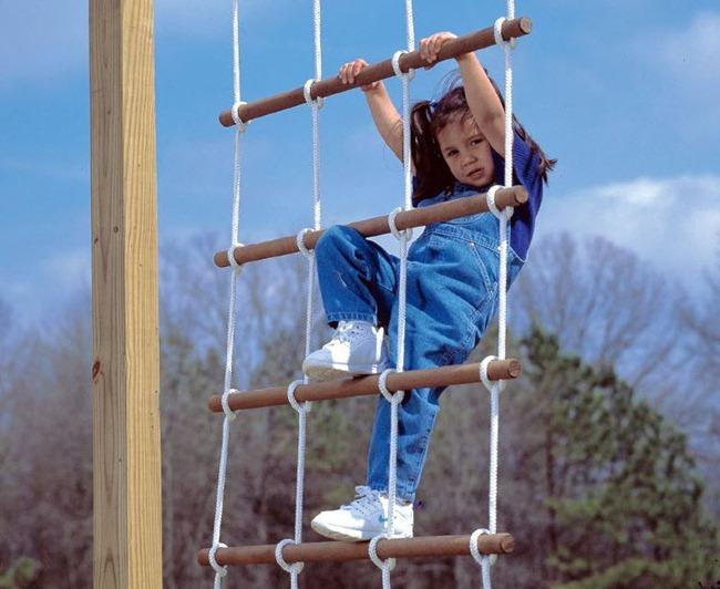 Веревочную лестницу своими руками